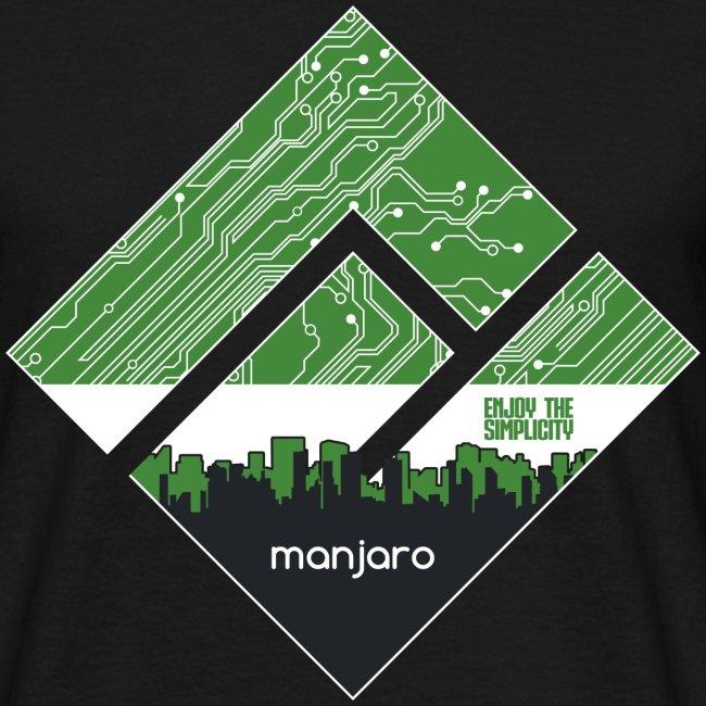 Manjaro Circuit Logo v3 (white frame)