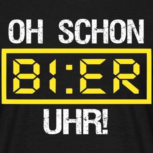 Lustig Bier Sprüche Geschenk Biertrinker Party Fun - Männer T-Shirt