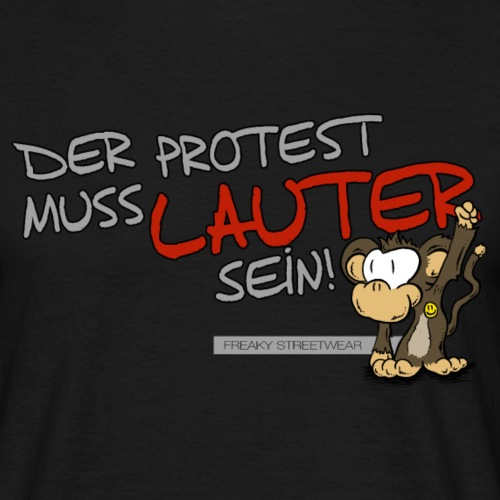 Protest-Äffchen1 - Männer T-Shirt