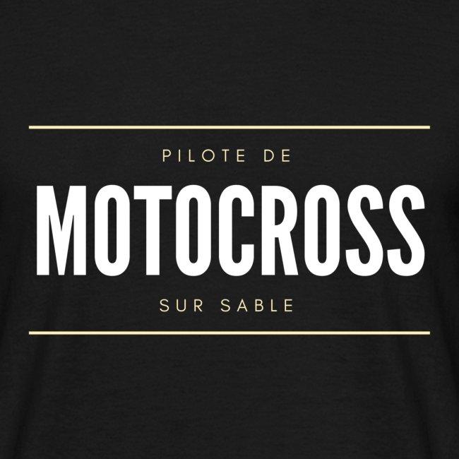Pilote de Motocross sur sable