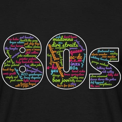 Cloud words 80s - Men's T-Shirt