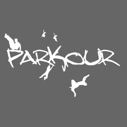 Parkour White Print - Herre-T-shirt