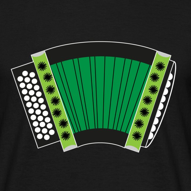 Schwyzerörgeli grün schwarzer Hintergrund