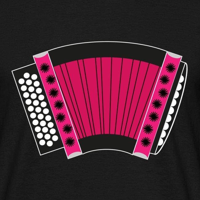 Schwyzerörgeli pink schwarzer Hintergrund