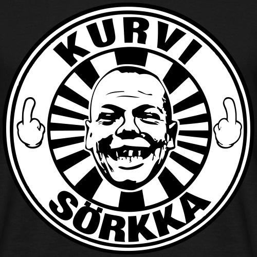 Kurvi - Sörkka - mustavalko - Miesten t-paita