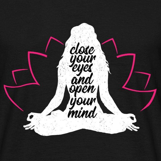 chiudere gli occhi bianco yoga pace amore sport arte