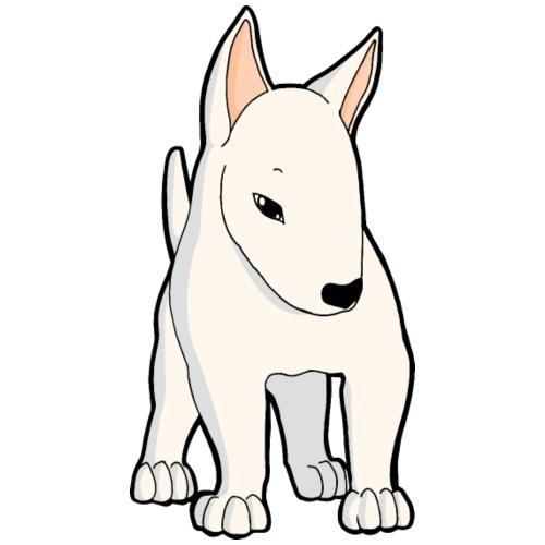 Bull Terrier bianco - Maglietta da uomo