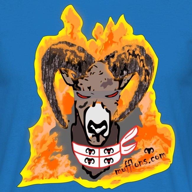 Mufflon in FlammenSard