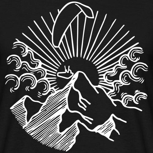 Mountain Sunrise Paraglider Gleitschirm Alpen - Männer T-Shirt