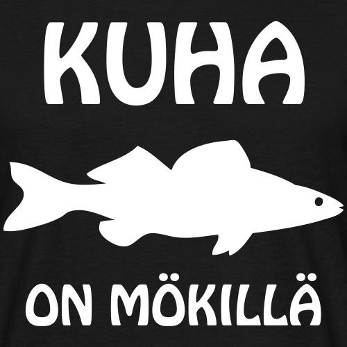 KUHA_ON_MÖKILLÄ - Miesten t-paita