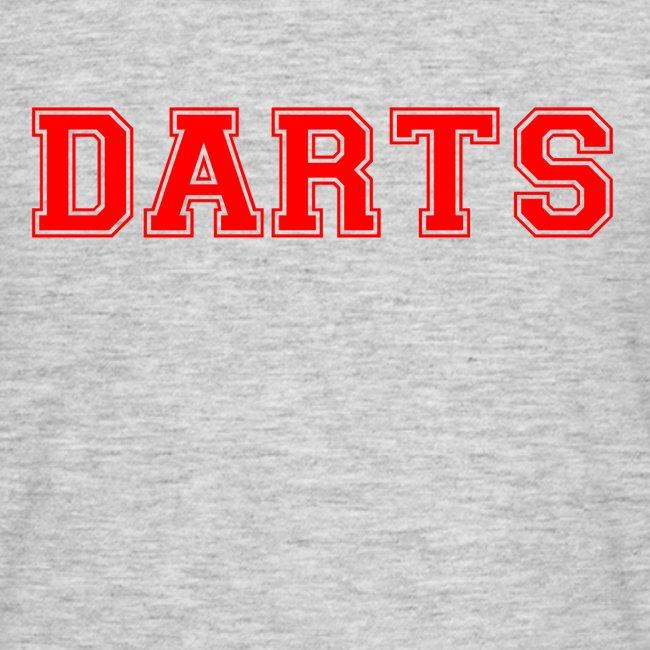 DARTS - Schriftzug in rot