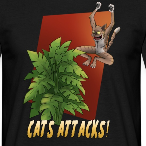 CATS ATTACKS - T-shirt Homme