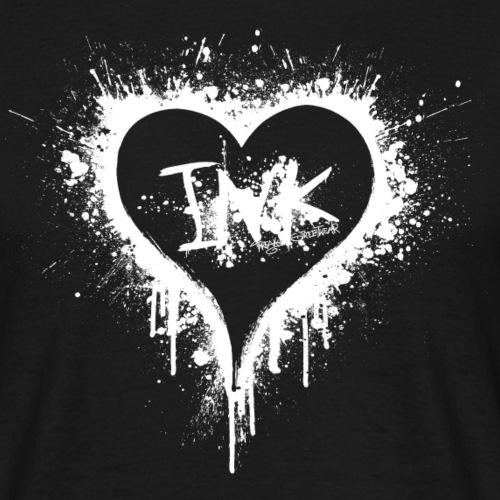 I Love Ink white - Männer T-Shirt