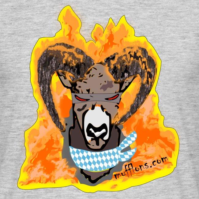 Mufflon in Flammen