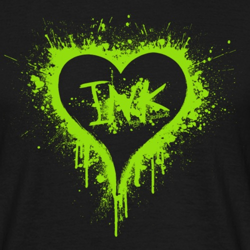 I Love Ink green - Männer T-Shirt