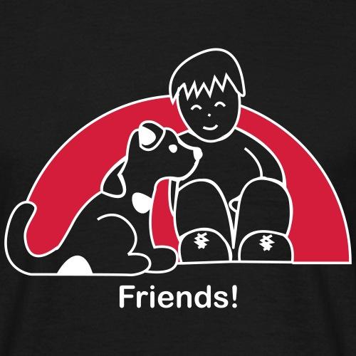 Freunde - Friendship - Liebe - Love - Männer T-Shirt