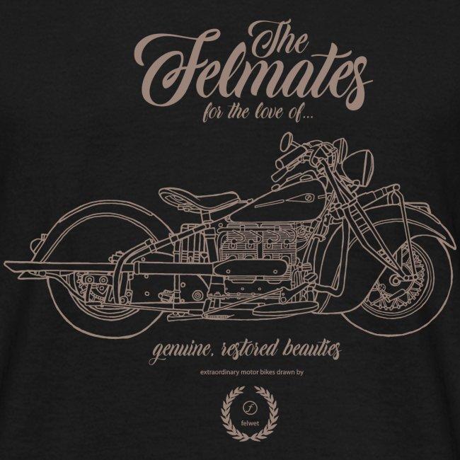 the felmates motorbikes outlines bronze