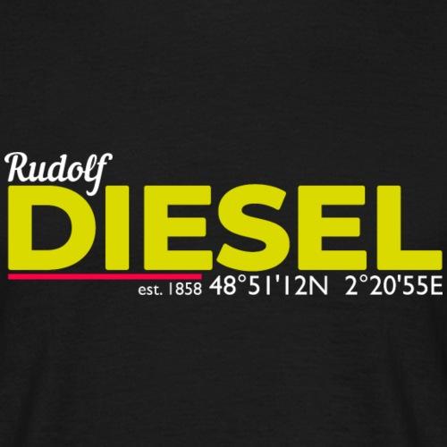 Rudolf Diesel geboren in Paris I Dieselholics - Männer T-Shirt