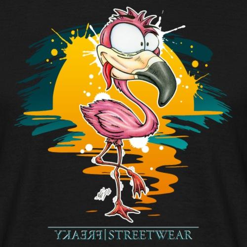 Flamingo Weirdo - Männer T-Shirt