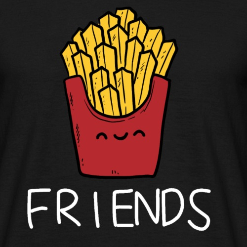 Burger und Pommes Best Friends Partnerlook - Männer T-Shirt
