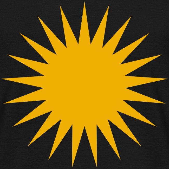 Kurdische Sonne Symbol