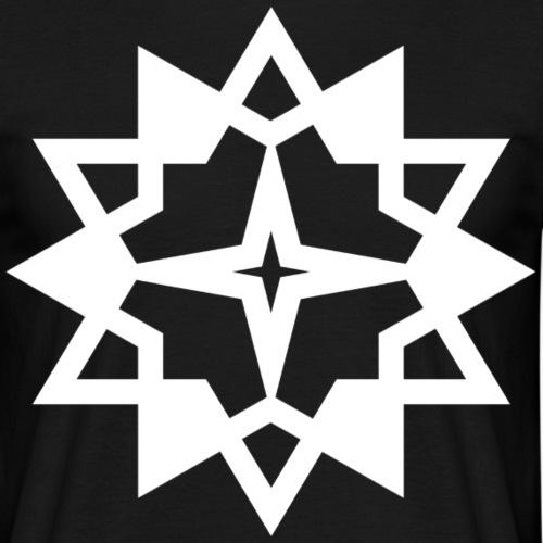Tribal Stern Dodekagon Vieleck Zwölfeck Geschenk - Männer T-Shirt