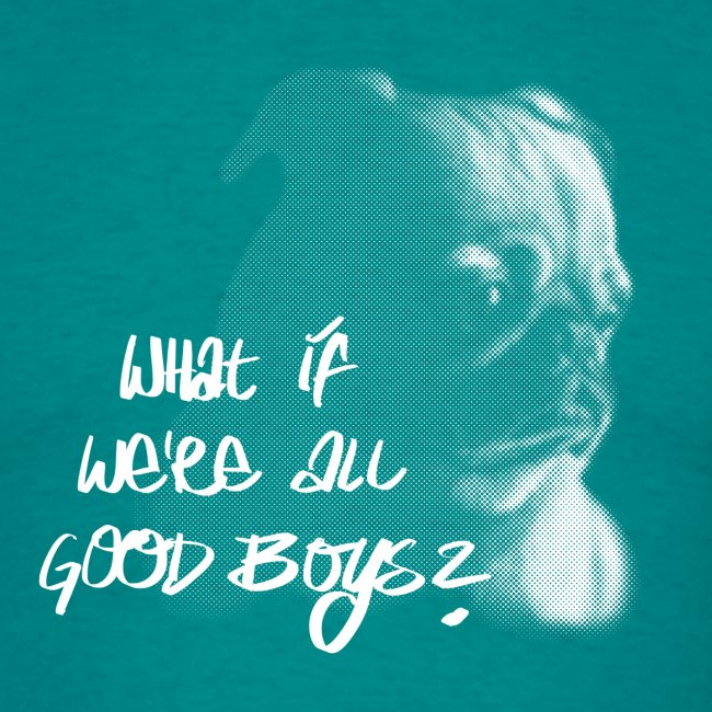 """What if we're all good boys?"" Nachdenklicher Mops"