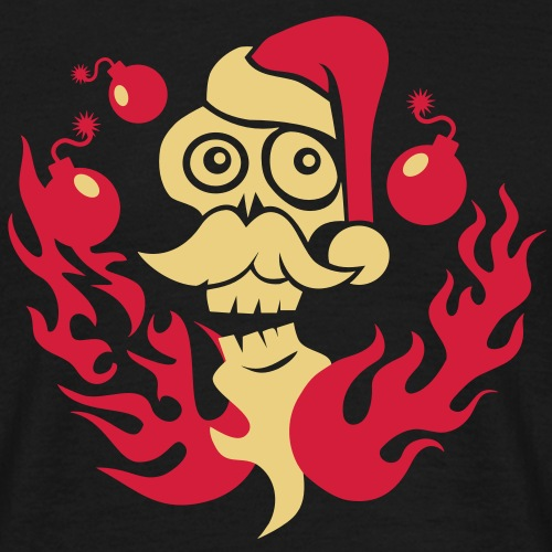 Santa Skull - Männer T-Shirt