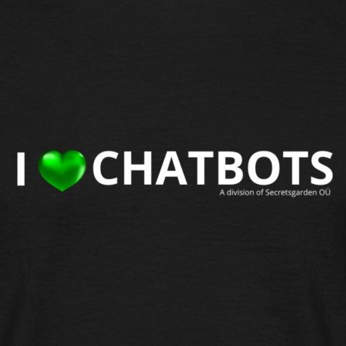 I love chatbots blanc 1000x300 - T-shirt Homme