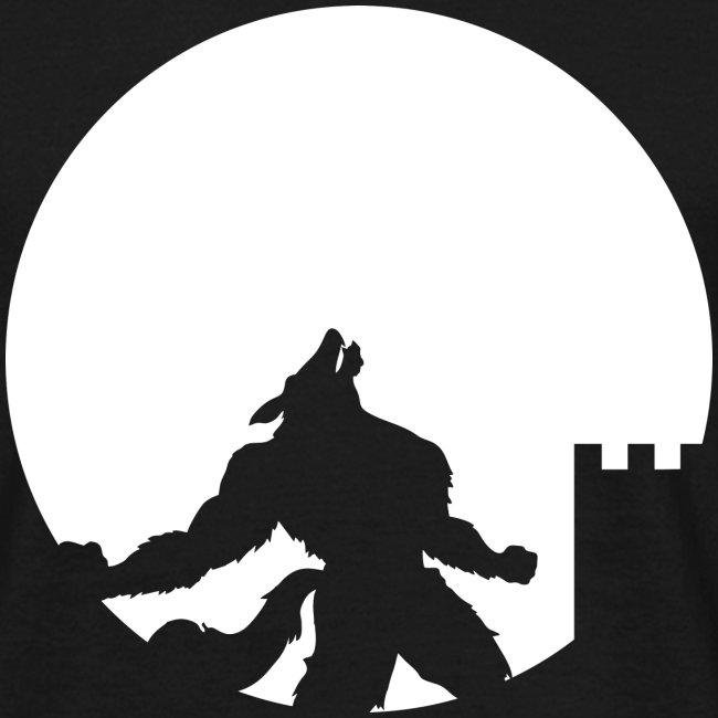 castle night wolf