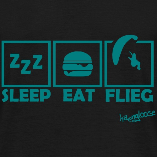 SleepEatFlieg - Männer T-Shirt
