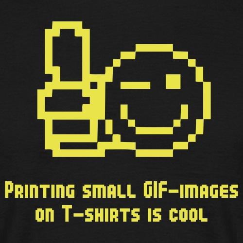 geek printing gif - T-shirt herr