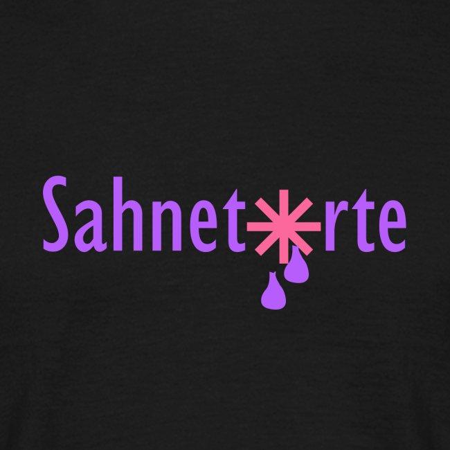 Sahnetorte T-Shirt - hellblaue Schrift