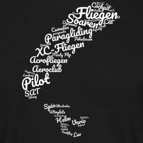 Wortwolke - Männer T-Shirt