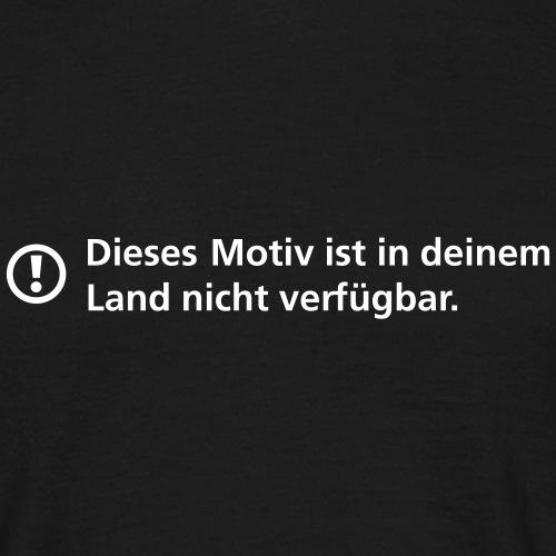 Motiv nicht verfügbar - Männer T-Shirt