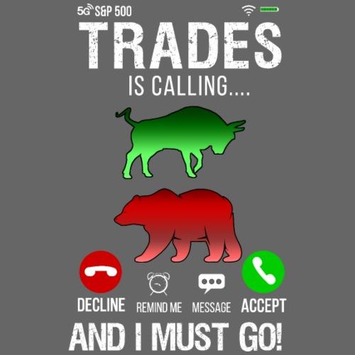 Trader På Aktiemarknaden Ringer Så Jag Måste Gå
