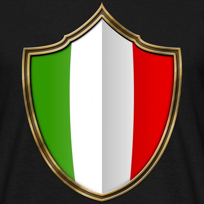 Italien Flagge Wappen Gold 016 Manner T Shirt