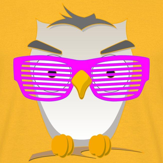 Eule Wald Vogel coole Nerdbrille Geek Big Bang Uhu