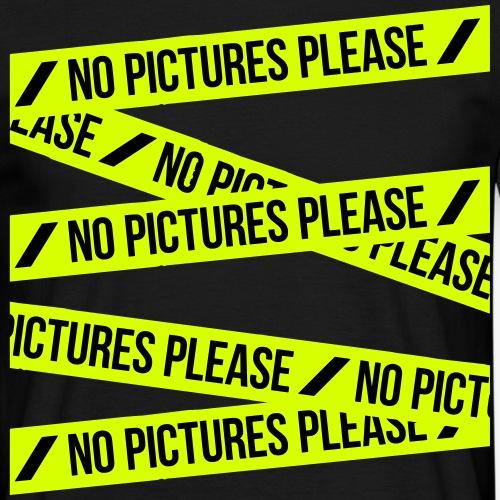 No Pictures Please - Mannen T-shirt