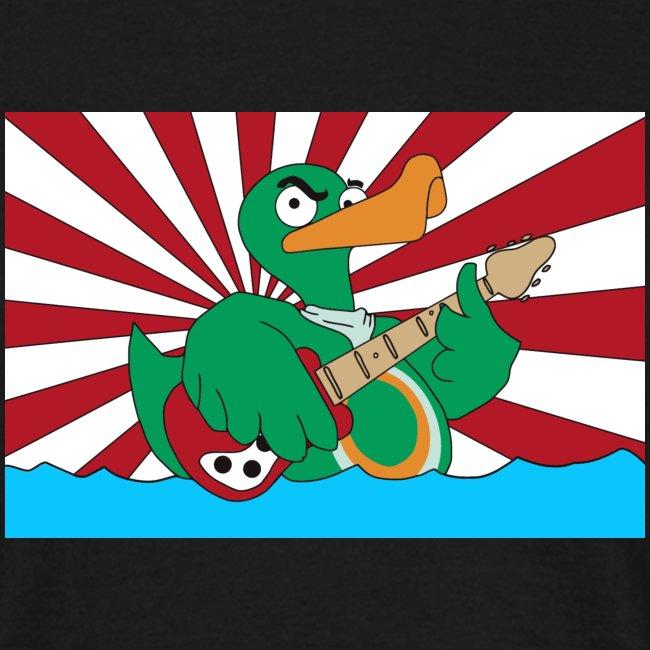 wild duck flagge mit linien