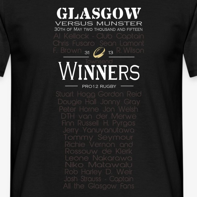 PRO12 Winners Glass