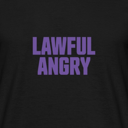 Tru Alignment - Lawful Angry - Men's T-Shirt