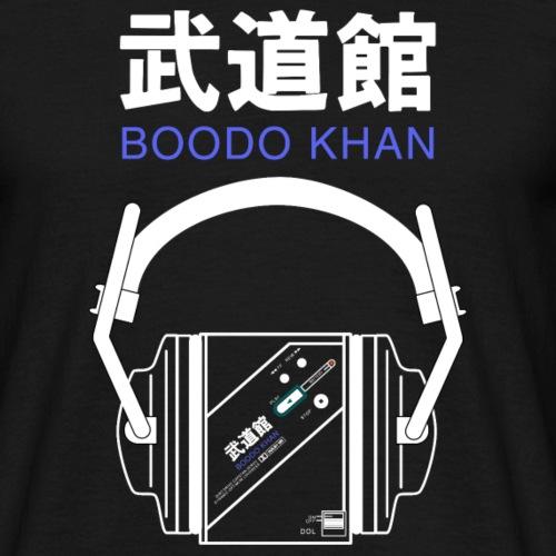 Boodo Khan walkman with headhones & Title - Men's T-Shirt