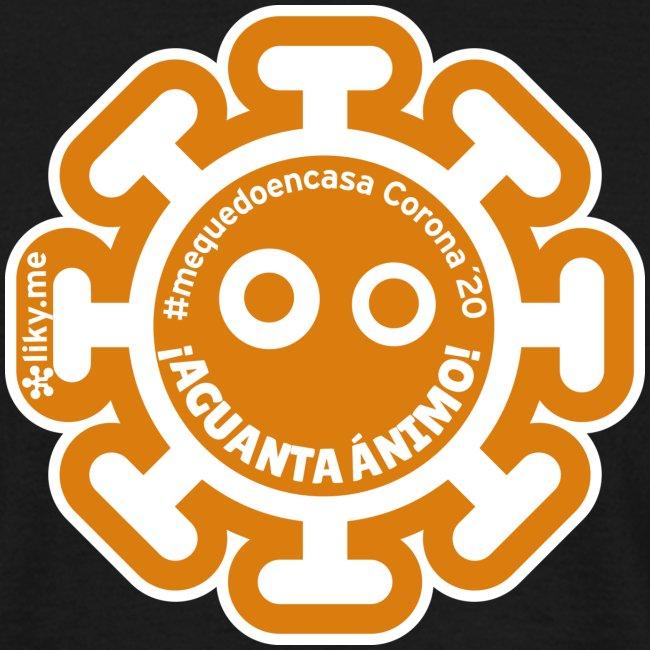 Corona Virus #mequedoencasa arancione