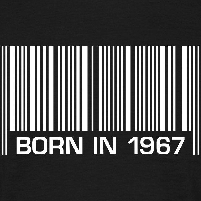 born in 1967 50th birthday 50. Geburtstag barcode