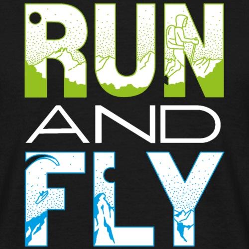 Run and Fly Mountainrunning Paragliding - Männer T-Shirt