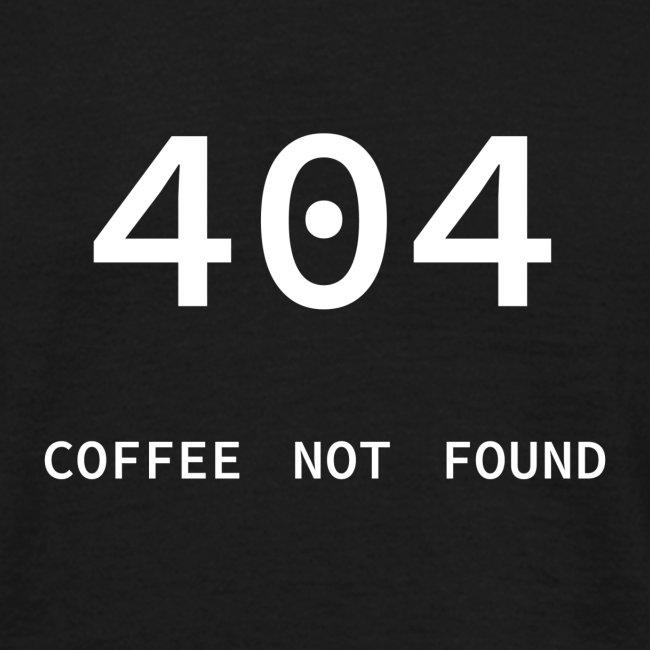 404 Coffee not found - Programmer's Tee