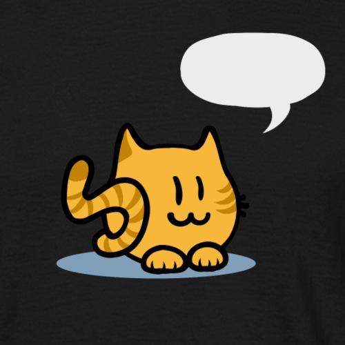 Katze Sprechblase - Männer T-Shirt