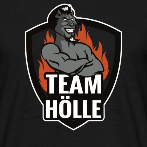 Team Hölle Logo s/w - Männer T-Shirt