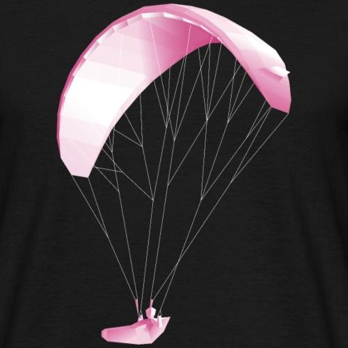 3D Paper Paraglider Papier Paragleiter - Männer T-Shirt